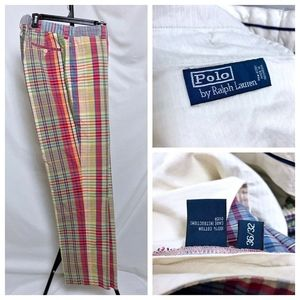 Vintage Ralph Lauren Madras Plaid Golf Pant 36x32